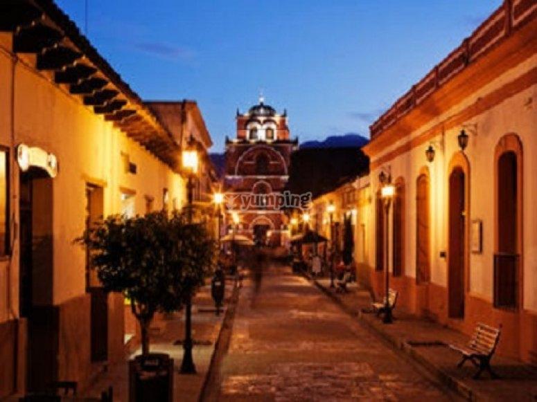 The town of San Cristóbal de las Casas