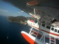Flight over the beach