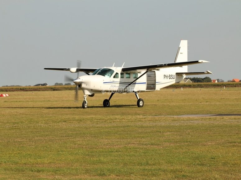 Travelling on small plane