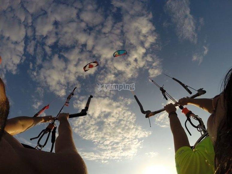 Feeling the adrenaline of kitesurfing