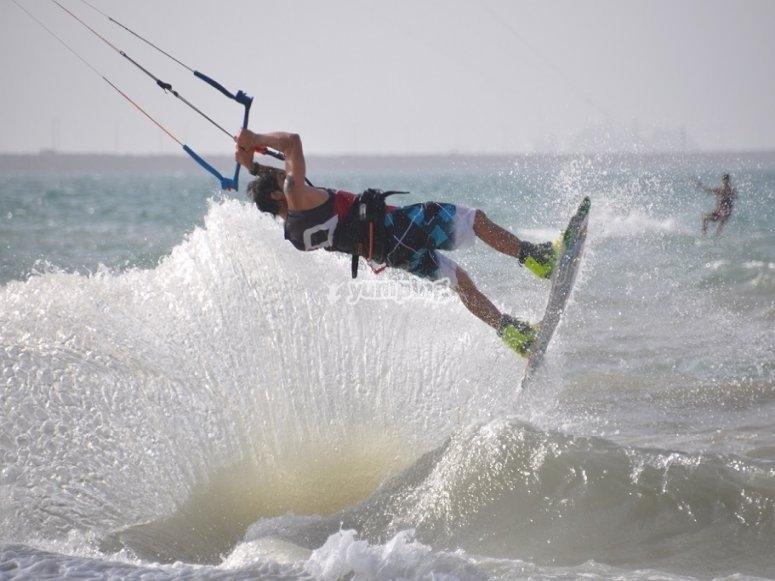 Maximum emotion kitesurfing