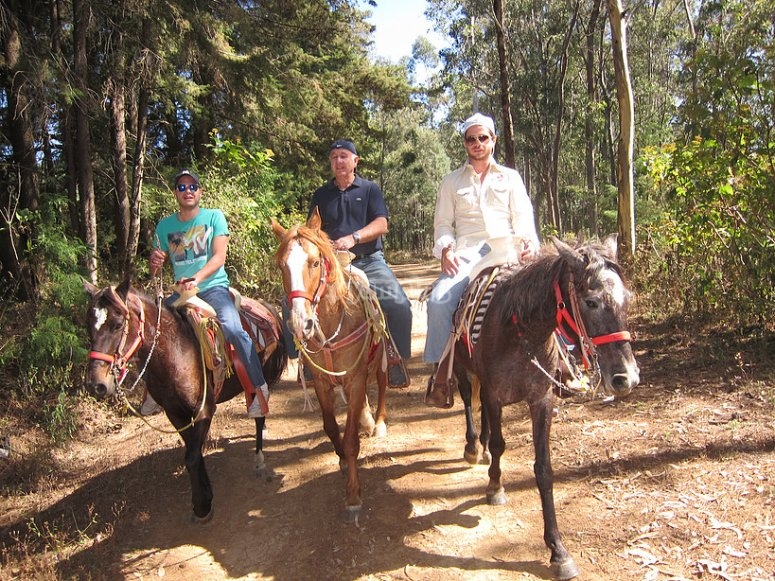 Horseback riding with friends