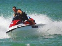 Trayecto en motos acuaticas