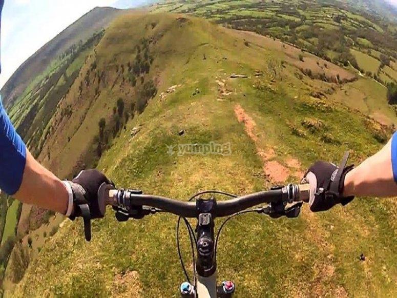 Biking in the mountain
