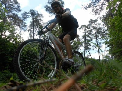 Mountain bike route in Malinalco