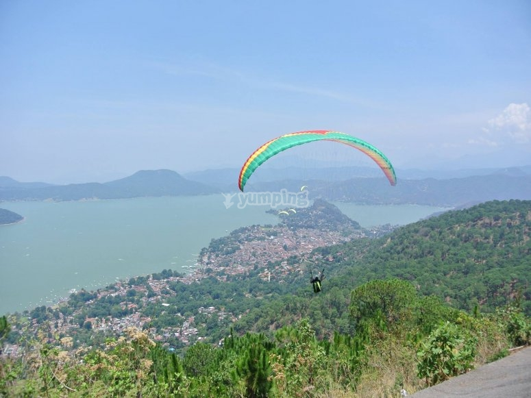 Beautiful views from the paragliding