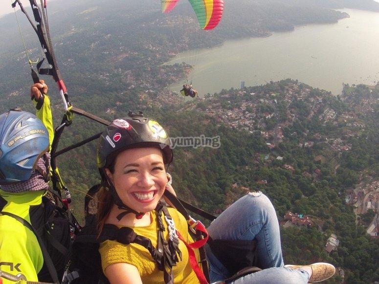 Paragliding session