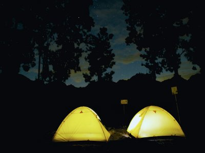 One night camp with material and breakfast