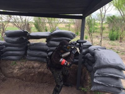 Paintball match for 10 people, Matamoros
