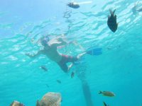 Snorkeling in the waters of Isla Mujeres