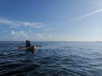 kayak en mar caribe