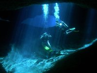 Diving in the cenote