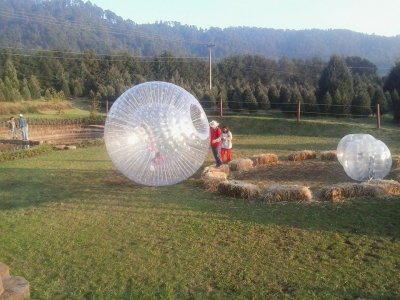 Bumper Ball en rancho recreativo de Valle de Bravo