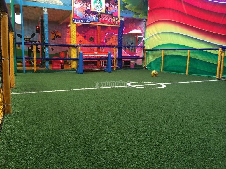 Soccer field for kids
