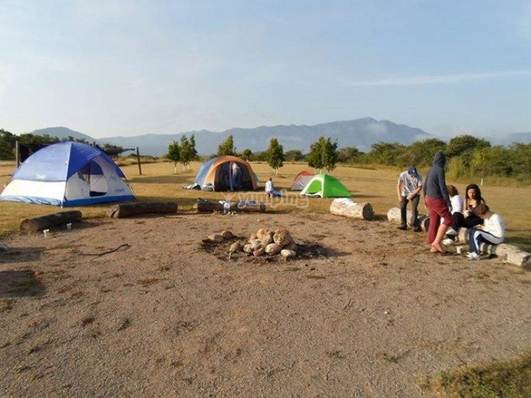 durmmiendo en el camp