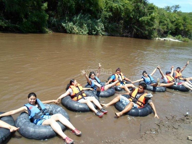 tubing en rio