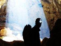 Backlit cave