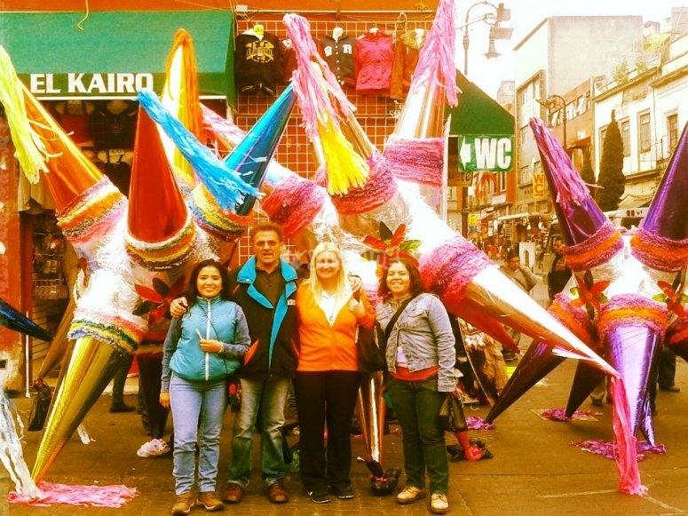 Beautiful piñatas at the marketplace