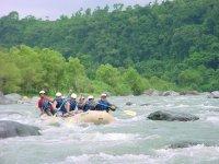 Raftig in rapids