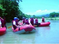 Rapids with rafting