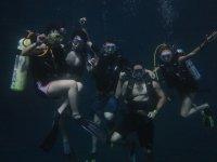 Buceando con amigos en la Laguna potosina de Media Luna