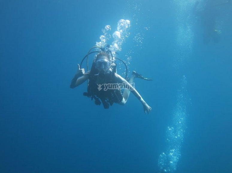 Total diving adventure