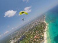 Flight planning above Playa del Carmen
