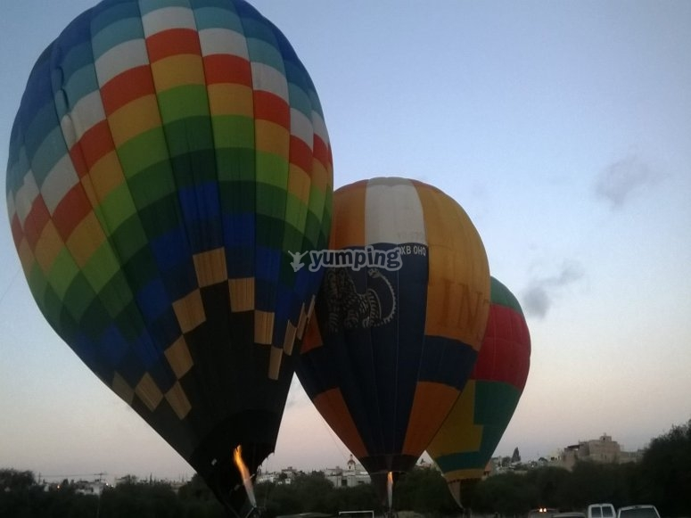 Balloons ready to fly in San Miguel