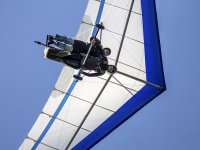 Hang gliding seen from below