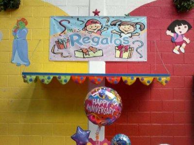 Paquete salón, comida, pastel y piñata 85 personas