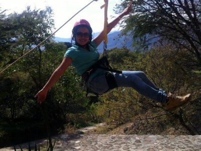 Zip line 1 jump in Malinalco adventure park