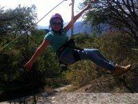 Tirolesa 1 salto en parque de aventura Malinalco