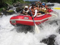 Rafting waterfalls