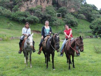Combo rappel+ canopy+ horse riding, Malinalco