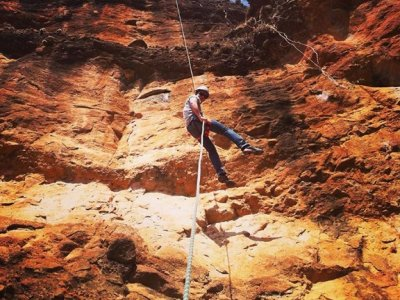 Rappel, Canopy, climbing and pool in Mali