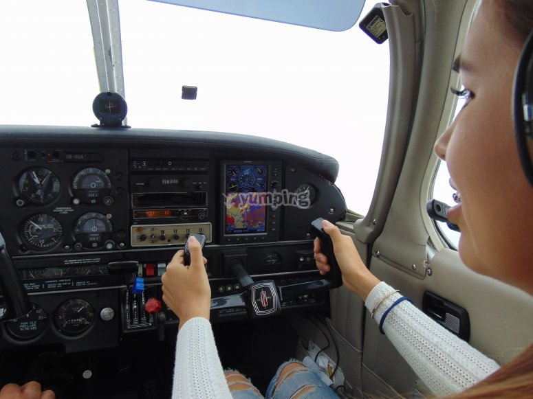 In command of the plane
