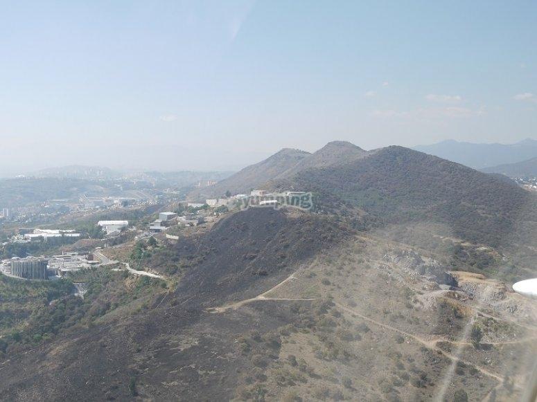 Surroundings of Atizapán from the plane