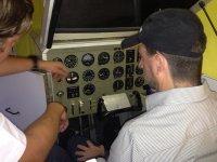 Practical flight class by plane