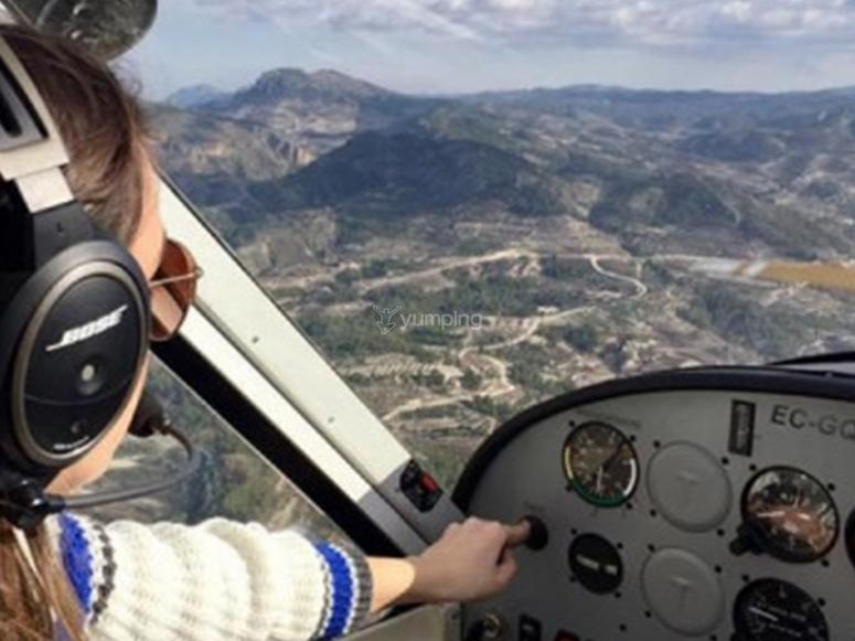 Panoramic flight in Tequesquitengo