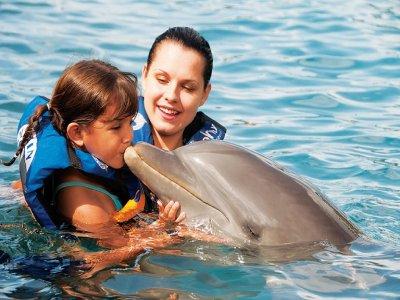 Swim with dolphins adventure Isla Mujeres kids