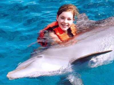 Dolphin encounter for kids in the Riviera Maya