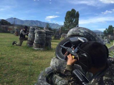 100 paintballs in Oaxaca