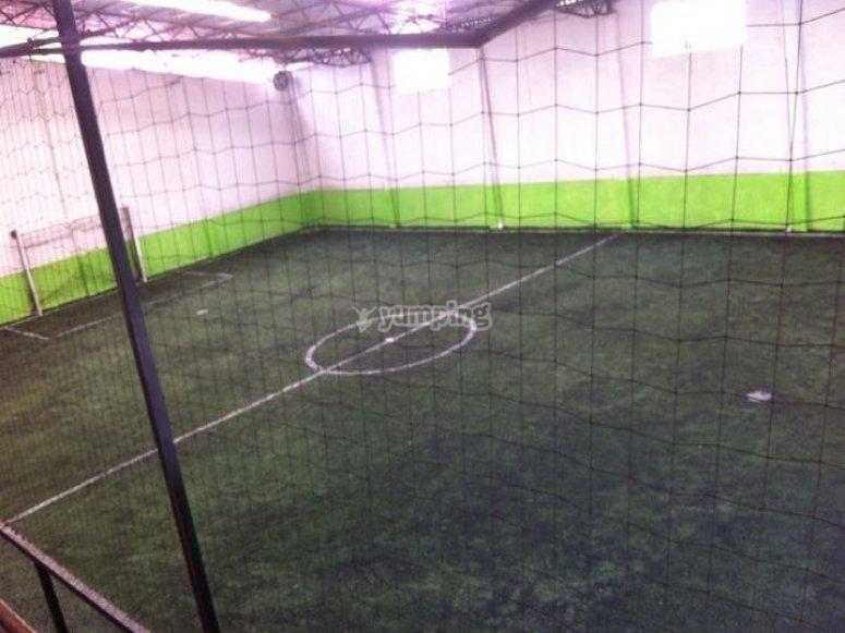 el campo de futbol