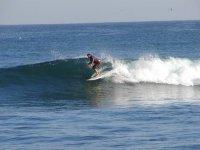 Surfeando en el mar