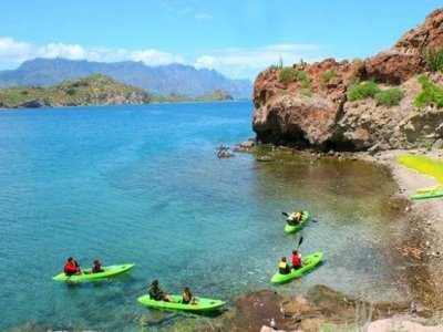 Kayak trip and snorkel. 3 hours. Loreto.
