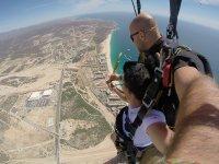 Tandem parachute jump 12 thousand feet Cabo San Lucas