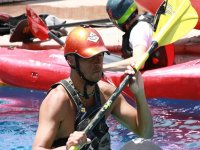 kayaks and instructor