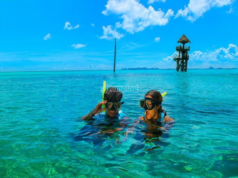 Snorkeling on the island
