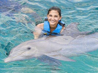 Dolphin encounter + activities at Garrafón Park