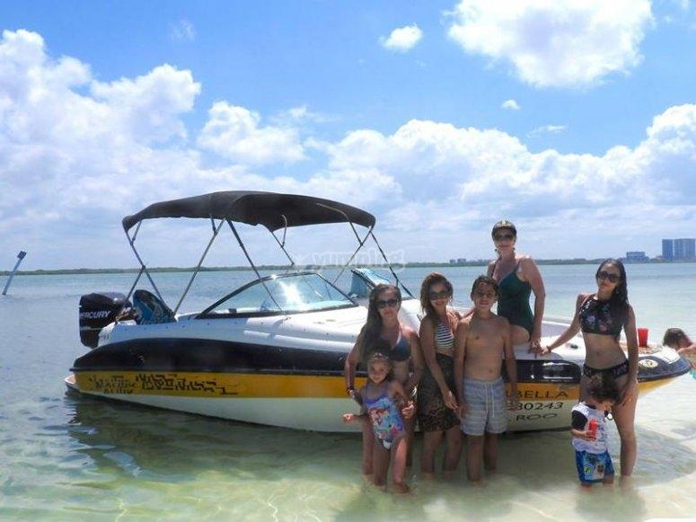 Family boat ride